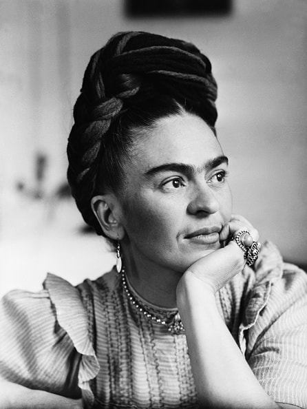 Portrait of Frida Kahlo (1910-1954), Mexican painter, wife of Diego Rivera.